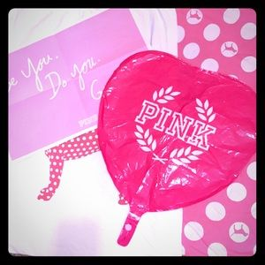 💕PINK Victoria's Secret Heart Balloon & Poster 💕